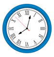 ilustration blue wall clock over white vector image vector image