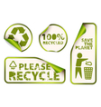 labels badges vector image vector image