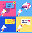 latest news did you know banners promotional and vector image vector image
