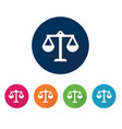 law office icon vector image