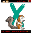 letter x for xerus cartoon vector image vector image
