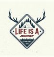 life is a journey slogan summer camp vector image vector image