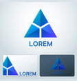 logotype blue triangles vector image