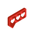 love chat social media isometric icon vector image
