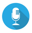 microphone icon flat design vector image vector image