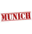 munich grunge stamp vector image vector image