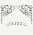 Ornate Angles And Banner vector image vector image