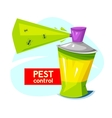 Pest control concept design vector image vector image