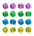 playing dice set 3d realistic cubes with vector image vector image