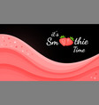 red smoothie logo strawberry fruit shake cocktail vector image vector image