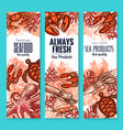 seafood and fish food product banners vector image vector image