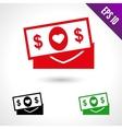 set a money for wedding vector image vector image