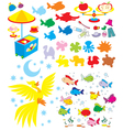 Simple objects for kindergarten vector image vector image