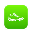 sneakers for tennis icon digital green vector image vector image