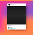 social network post photo frame mockup vector image vector image