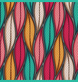 stylized colorful leaves seamless pattern nature vector image