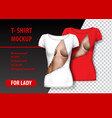 t-shirt template fully editable with torn clothes vector image vector image