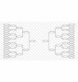 team tournament bracket vector image vector image