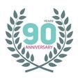 Template Logo 90 Anniversary in Laurel Wreath vector image vector image
