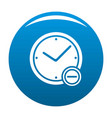 time minus icon blue vector image