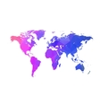 triangle world map globe concept vector image vector image