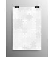 Vertical Poster A4 Puzzle Pieces Grey Puzzles vector image vector image