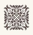 vintage ornament for design vector image vector image