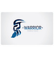 warrior icon vector image vector image