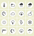 - weather icons set vector image vector image