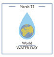 World Water Day vector image vector image