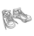 youth sneakers sketch vector image