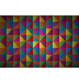 abstract triangles colorful geometric background vector image