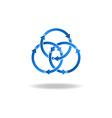 Blue ring arrows mockup logo closed loop vicious vector image