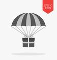 Giftbox on parachute icon bonus concept Flat vector image