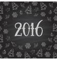 Christmas or New Year blackboard design vector image