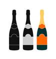 champagne bottle icon design vector image