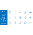 15 gesture icons vector image vector image