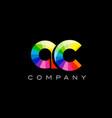 ac a c alphabet letter mosaic design vector image vector image