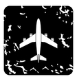 Airplane icon grunge style vector image vector image