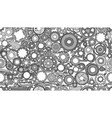 auto spare parts and gears seamless pattern for vector image