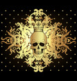 baroque ornamental frame damask style pattern vector image