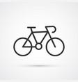 bicycle blsck trendy cute icon vector image vector image