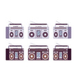 boombox set in grey and black color vector image
