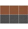 brick wall texture seamless 3 step drawing vector image