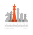 business strategy concept template with chess vector image vector image