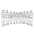 businesspeople fold arms with polo shirt vector image vector image