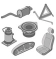 Car parts icons isometric vector image vector image