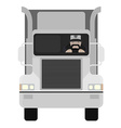 Cartoon style truck driver driving No outline vector image vector image
