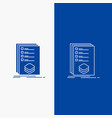 categories check list listing mark line and glyph vector image vector image