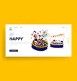 characters playing in ball pool landing page vector image vector image
